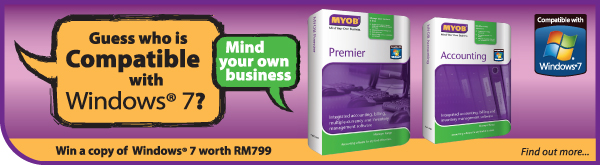 MYOB Accounting software is compatible with Windows 7