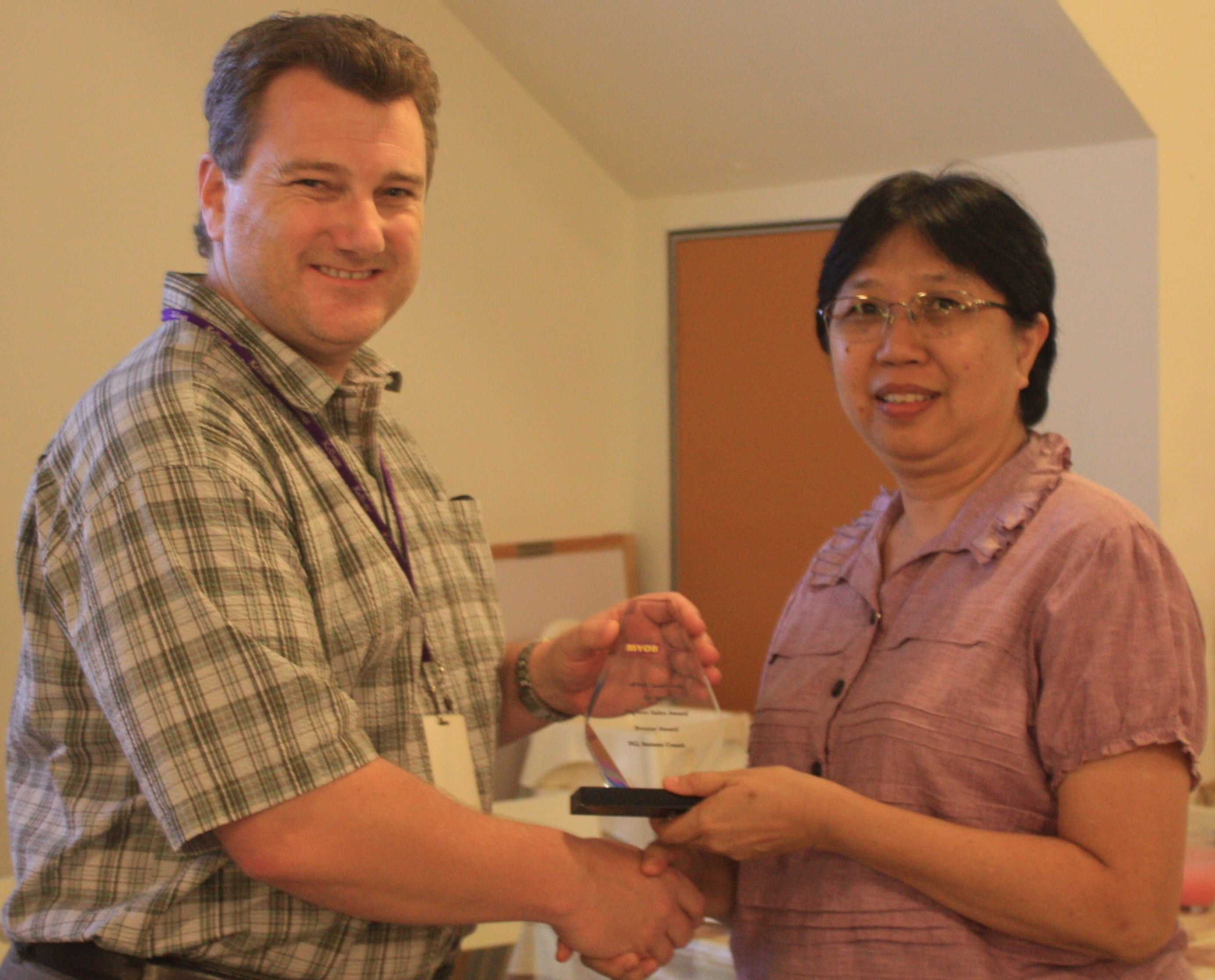 MYOB Top sales award 2011